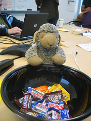Candy Bowl on office desk